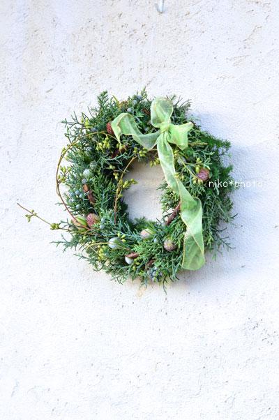 クリスマス リース 冬のリース 生 フレッシュ