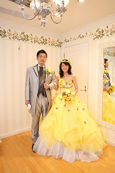 結婚式のブーケと花冠づくり