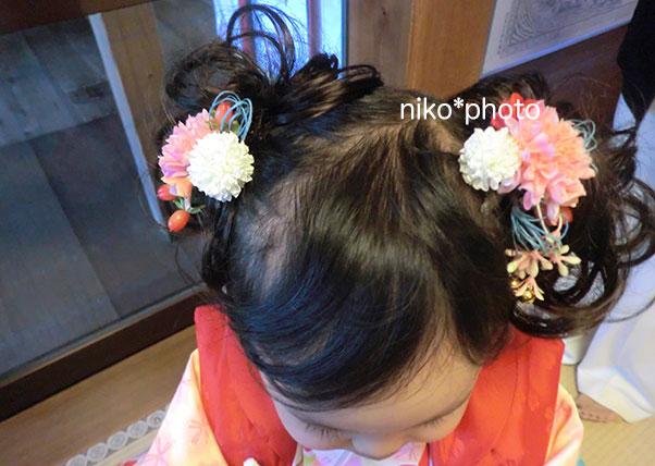 三歳さんの七五三髪飾りオーダーメイド