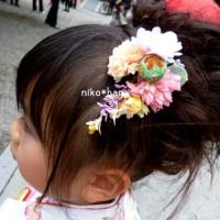 7歳さんの七五三のオーダーメイド髪飾り