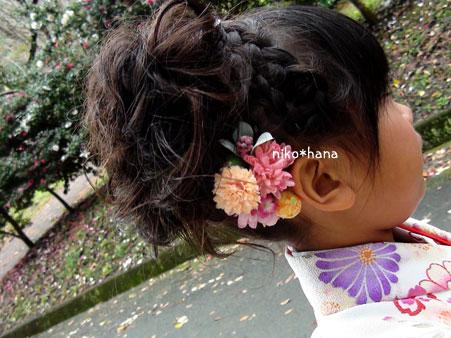 七五三 髪飾り 7歳 洋風