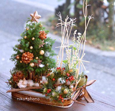 クリスマス アレンジメント ミニリース