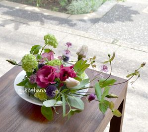 フラワーアレンジメント レッスン 季節のお花 癒し