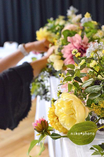 結婚式 テーブル装花